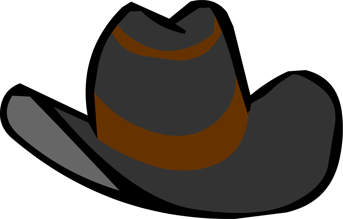 1453x927 Black Cowboy Hat Club Penguin Wiki The Free Editable Clip Art
