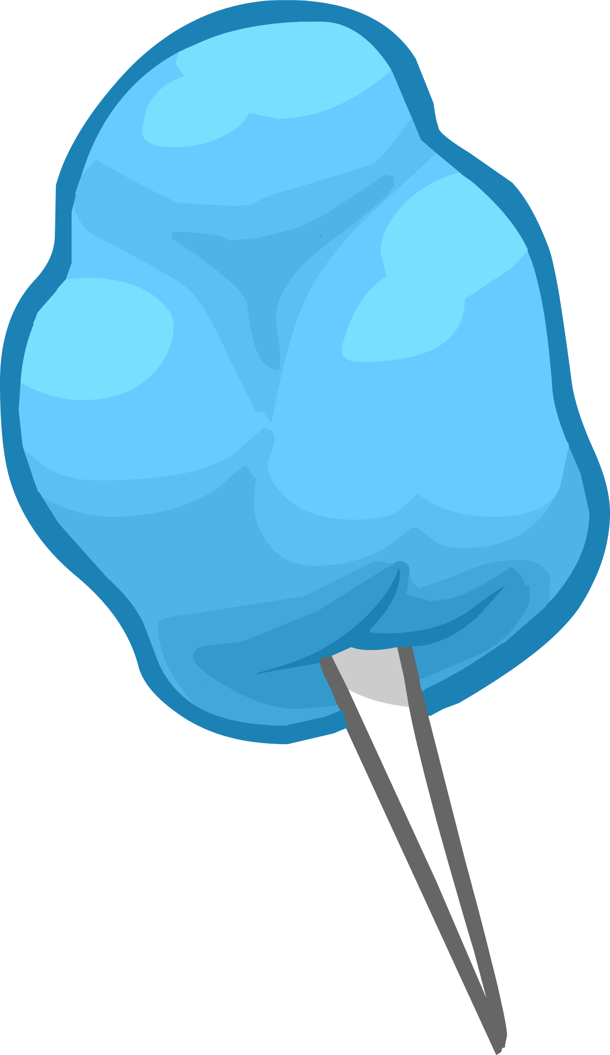 1244x2152 Blue Cotton Candy Club Penguin Wiki Fandom Powered By Wikia