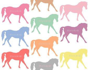 340x270 Horse Clip Art 1 Digital Realistic Clip Art Horses Clipart