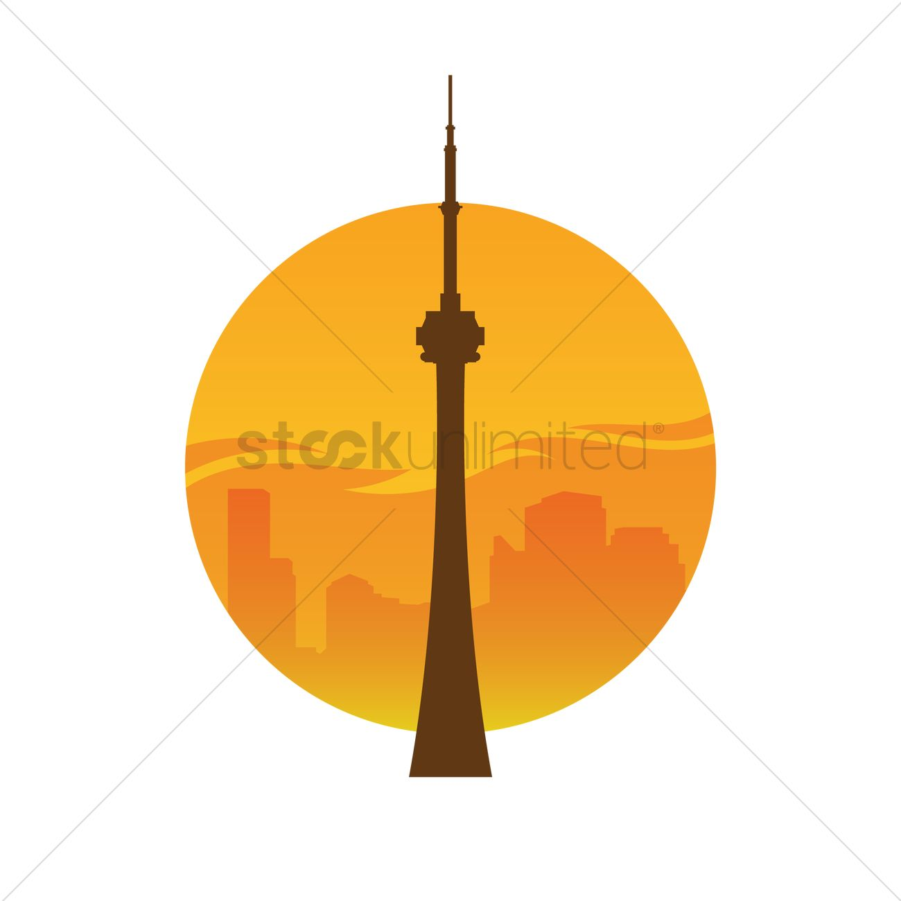 1300x1300 Cn Tower Vector Image