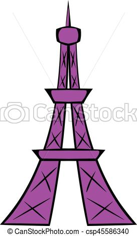 273x470 Eiffel Tower Icon Cartoon. Eiffel Tower Icon In Cartoon Eps