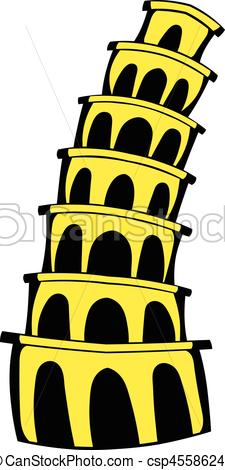 225x470 Pisa Tower Icon Cartoon. Pisa Tower Icon In Cartoon Style Eps
