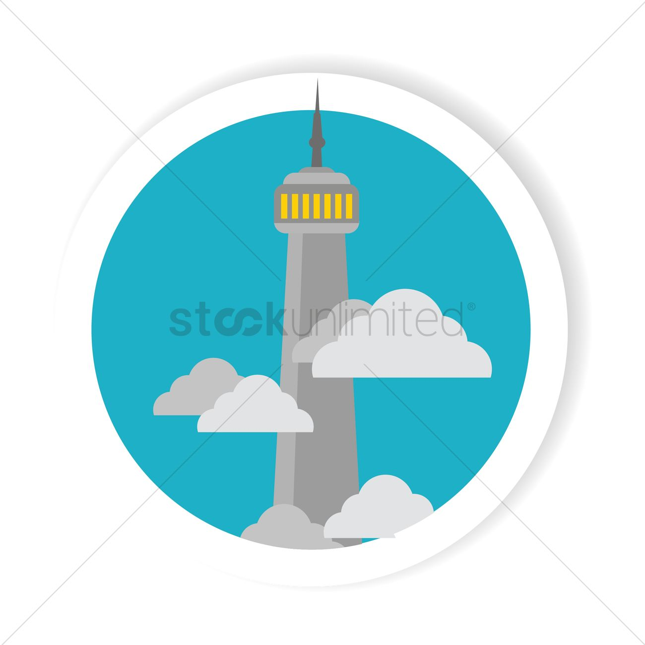 1300x1300 The Cn Tower Vector Image