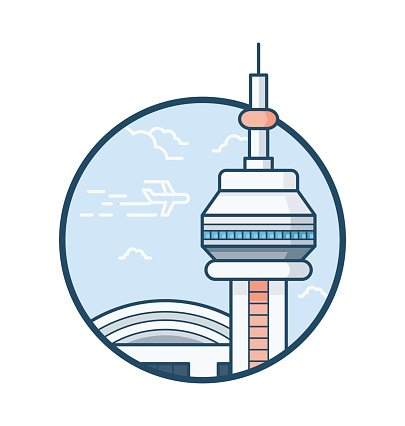 405x426 Cn Tower Vector Icon Stock Vectors