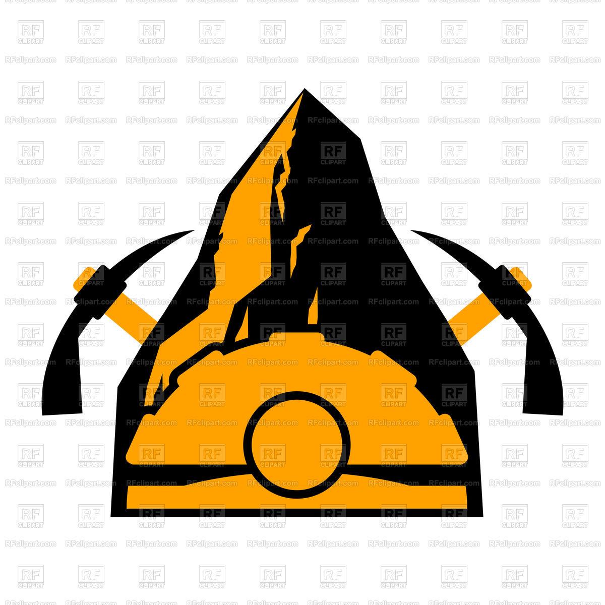 1200x1200 Mining Emblem Royalty Free Vector Clip Art Image