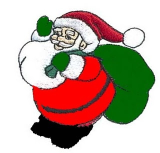 320x306 Santa With Coal Clipart