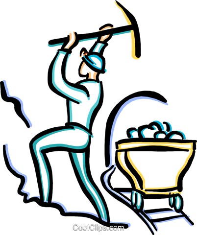 402x480 Coal Miner Royalty Free Vector Clip Art Illustration Vc033634