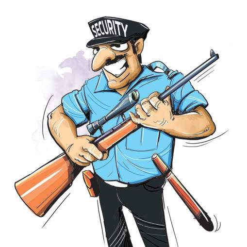 509x509 India Clipart Security Guard