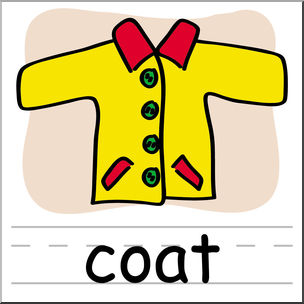 304x304 Clip Art Basic Words Coat Color Labeled I Abcteach