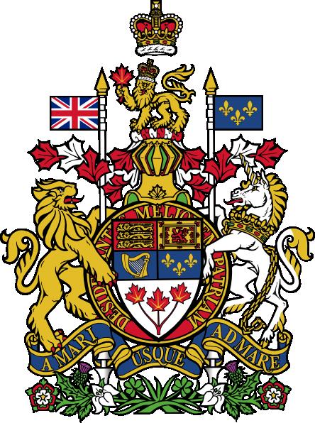 444x596 Coat Of Arms Of Canada Clip Art Free Vector 4vector