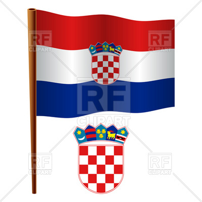 400x400 Croatia Flag And Coat Of Arms Royalty Free Vector Clip Art Image