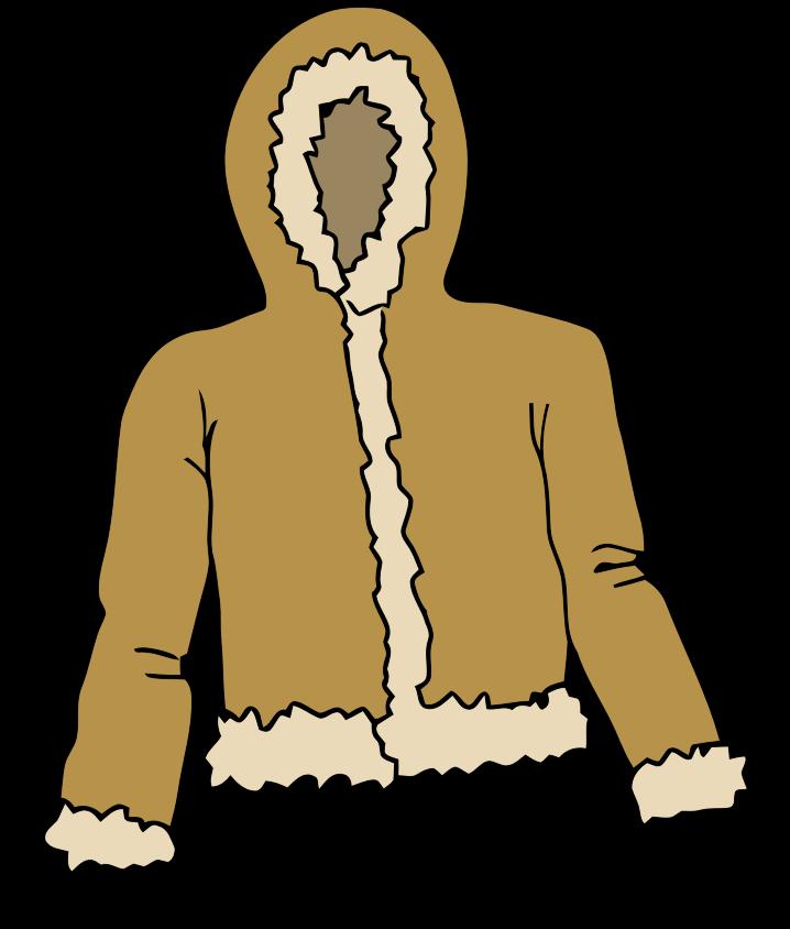 718x844 Free Fur Jacket Clip Art Clipart Panda