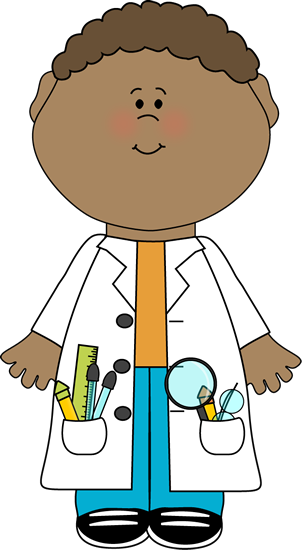 302x550 Child Scientist Clip Art Image