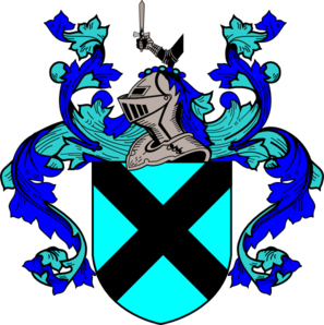297x298 Blue And Teal Coat Of Arms Clip Art