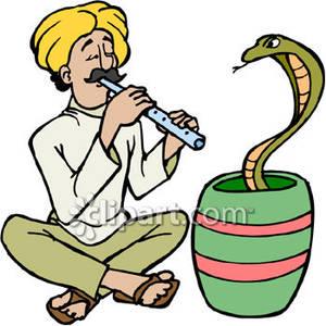 300x300 Snake Charmer Clipart A Snake Charmer Charming A Cobra Royalty