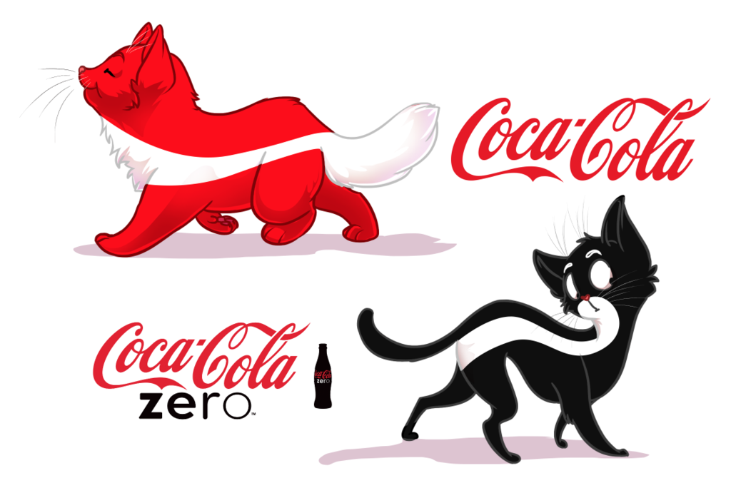 1024x691 Coca Cola Original And Zero Cats By Originalshaggy