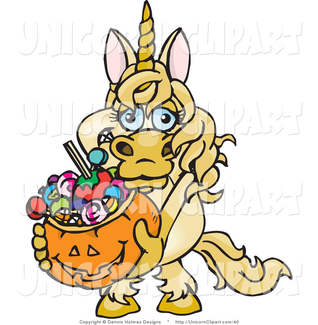 1024x1044 Fantasy Vector Clip Art Of A Yellow Halloween Unicorn Holding