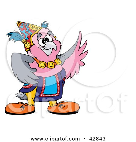 450x470 Clipart Illustration Of A Lucky Galah Cockatoo Bird By Dennis