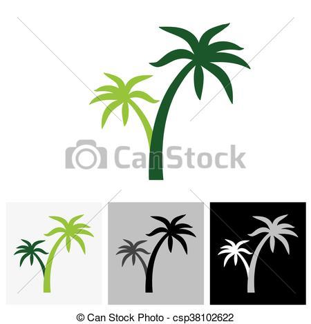 450x470 Coconut Palm Tree Icons Or Symbols Of Travel