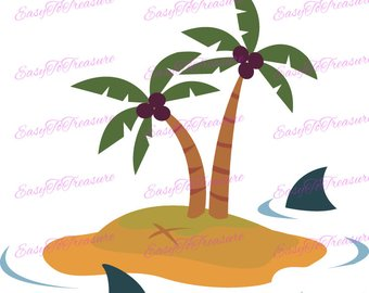 340x270 Coconut Tree Clipart Palm Tree Clip Art Hawaiian Luau Decor