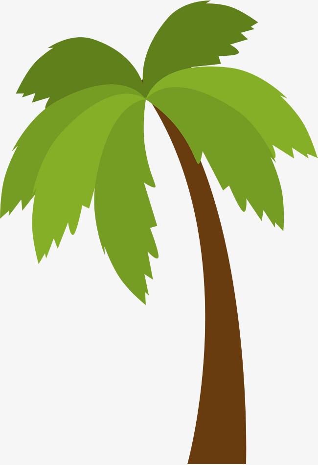 650x950 Green Cartoon Coconut Tree, Green, Cartoon, Coconut Trees Png