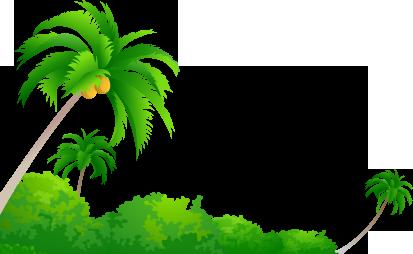 413x254 Palm Tree Clipart Kerala Coconut Tree