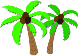 300x213 Palm Trees Clipart Image