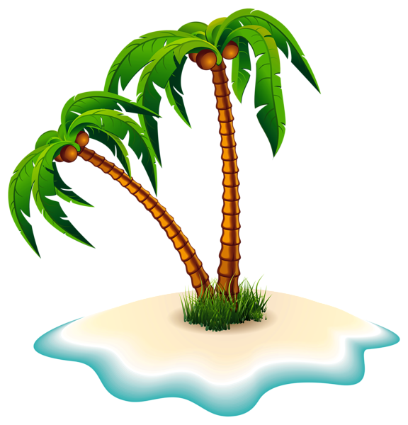 576x600 Palm Trees And Island Png Clipart Image Draw