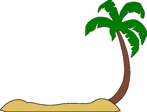 600x460 Beach Palm Tree Clip Art
