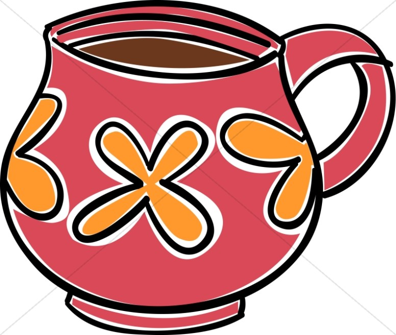 776x656 Red And Orange Coffee Mug Clipart Coffee Hour Clipart