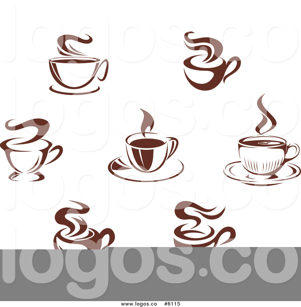 1024x1044 Royalty Free Clip Art Vector Logos Of Steamy Brown Coffee Mugs By