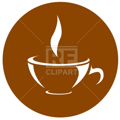 400x400 Symbolic Coffee Cup Icon Royalty Free Vector Clip Art Image