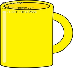 300x281 Yellow Coffee Mug Clip Art Image