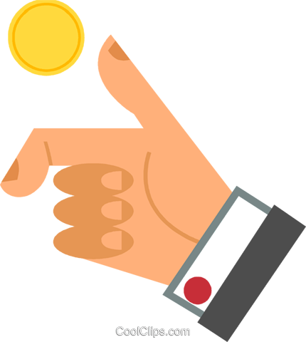 430x480 Coin Toss Royalty Free Vector Clip Art Illustration Vc069054
