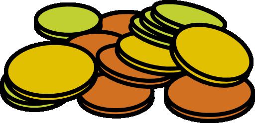 512x248 Coins Clip Art 2