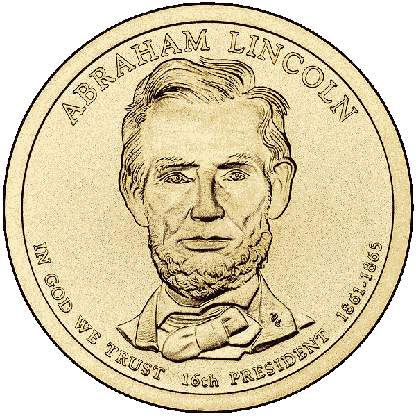 600x599 Abraham Lincoln Dollar Coin Clip Art Download