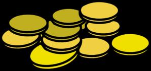 298x141 Gold Coins Clip Art
