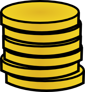 273x297 Gold Coins In A Stack Clip Art
