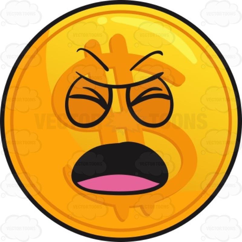 800x800 Nagging Golden Coin Emoji Cartoon Clipart Vector Toons