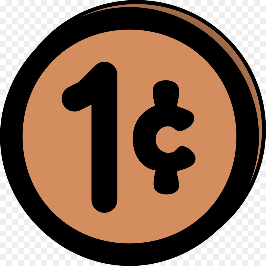 900x900 United States Penny Coin Clip Art
