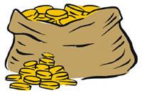 200x131 Bag Of Coins Clip Art