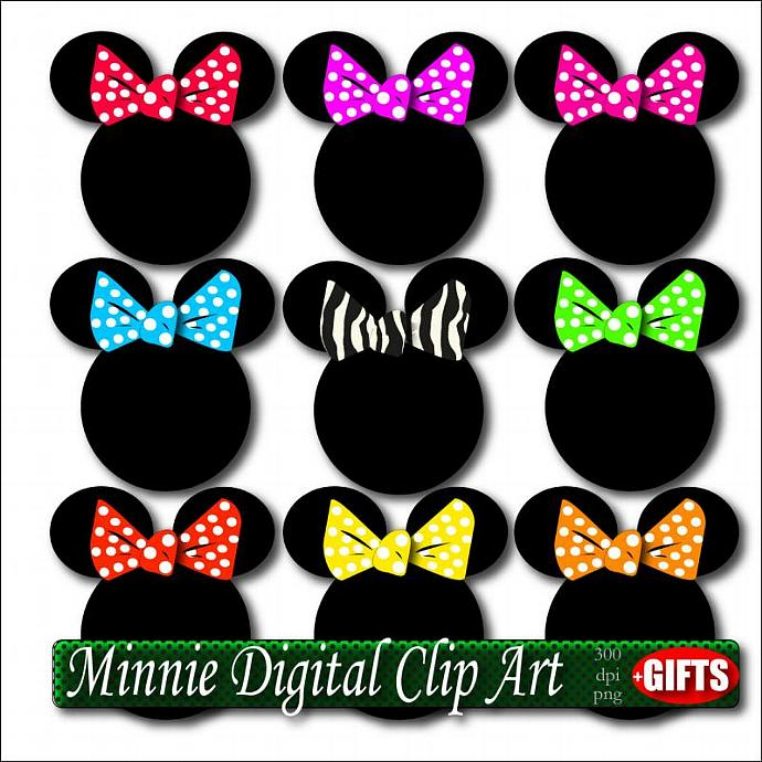 690x690 Minnie Clipart Digital Craft Supplies Party Diy By Digift On Zibbet