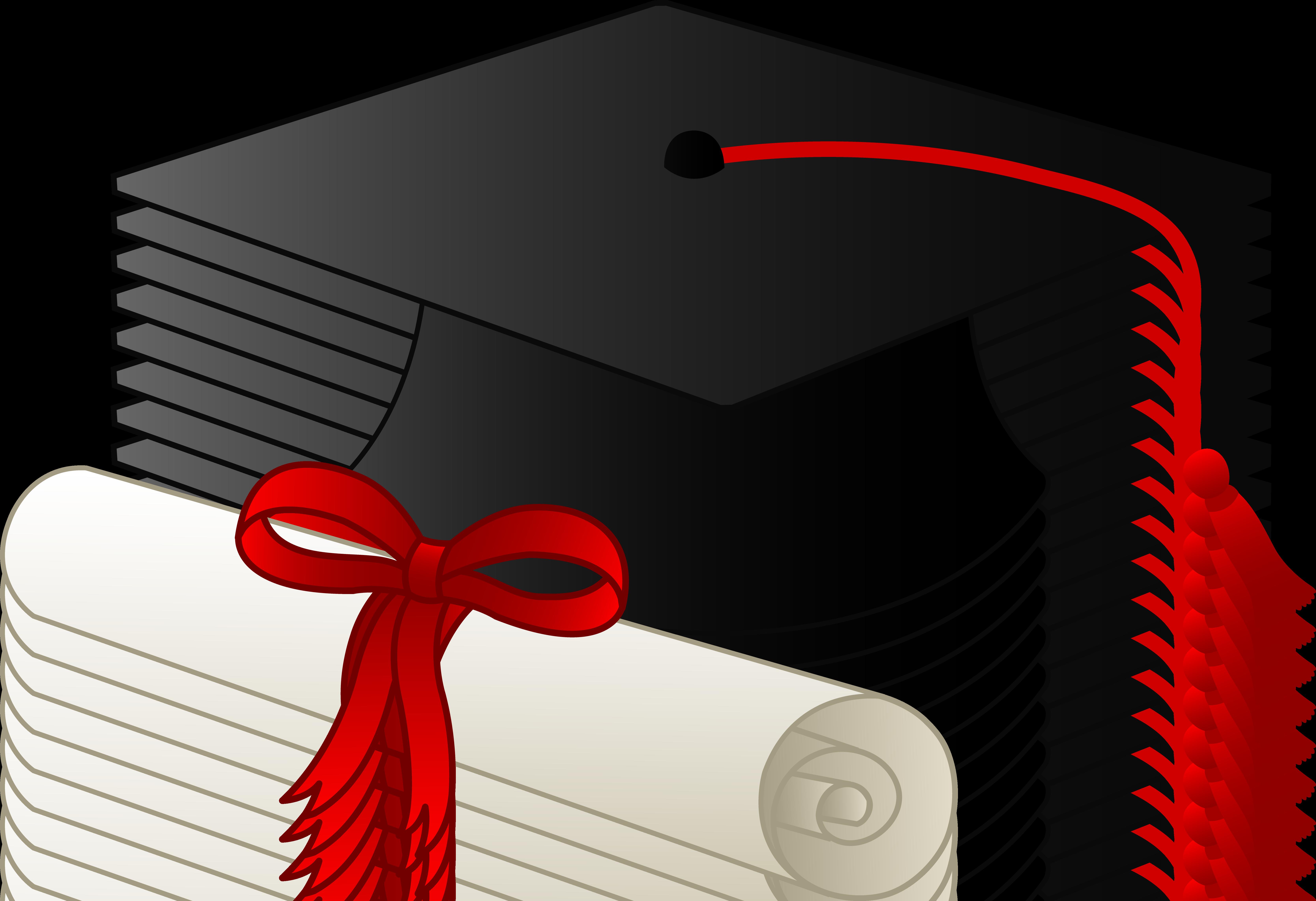 6675x4570 Graduation Clip Art Borders Graduation Cap And Diploma