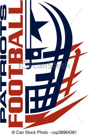 310x470 Patriots Football Team Design With Helmet And Facemask For School