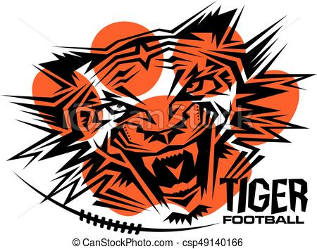 450x354 Tribal Tiger Football Team Design For School, College Or Clip
