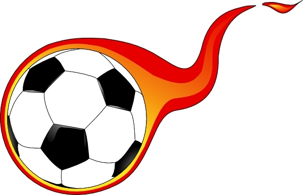 600x387 Flaming Football Clipart