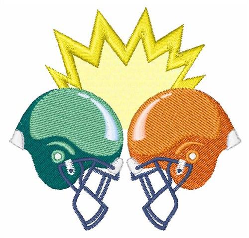 500x478 Football Helmets Crashing Clipart