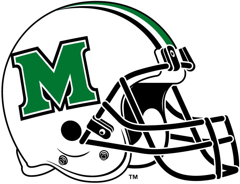 817x627 Marshall Thundering Herd Helmet