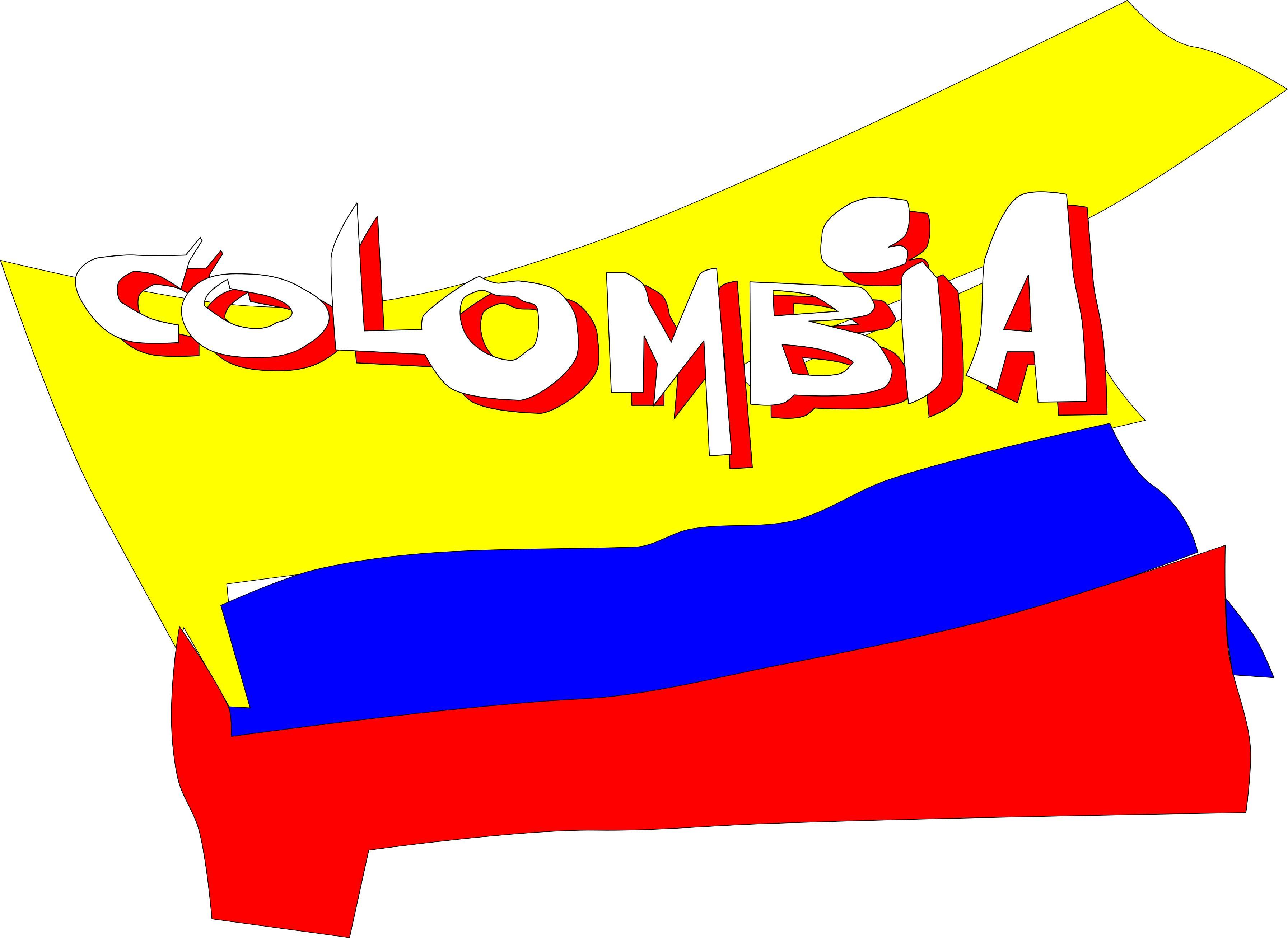 3588x2614 Colombia Animada Clipart