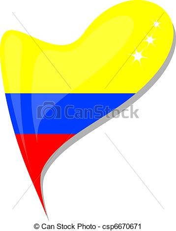 358x470 Colombia Flag Button Heart Shape. Vector. Colombia Flag Vector